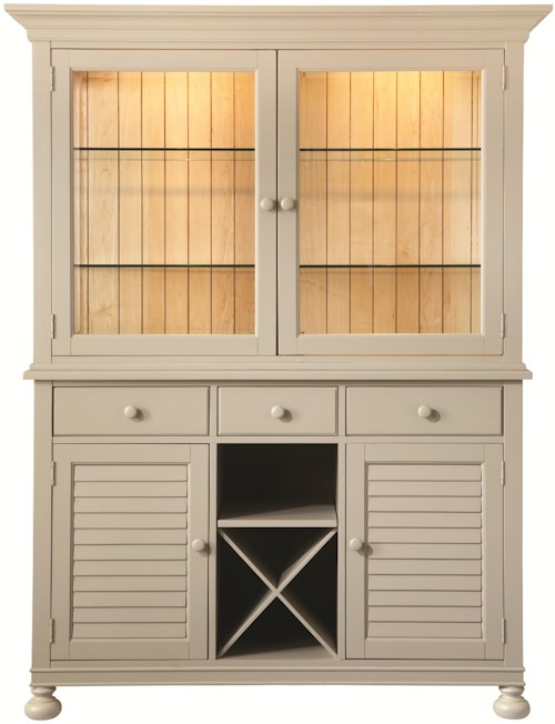 Bassett Custom Dining 4469 China and Hutch with Center Wine Rack