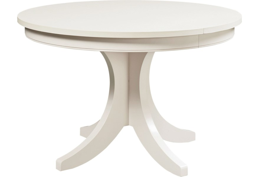 Custom Dining Customizable Round Pedestal Dining Table by Bassett at Fisher  Home Furnishings