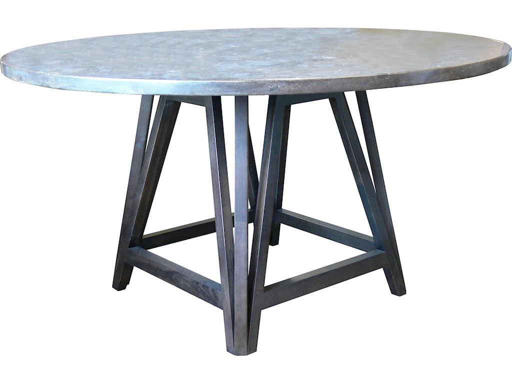 Bassett custom dining 54 arts craft bluestone top table