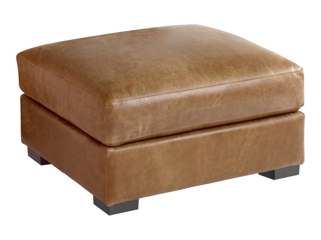 Bassett Custom Leather ScarboroughOttoman