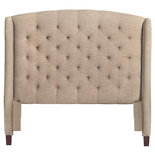 Bassett Custom Upholstered Beds Paris Upholstered King Size Headboard