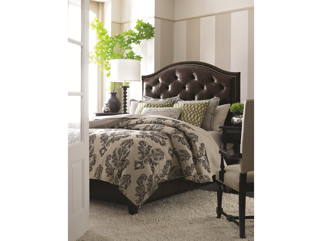 Bassett Custom Upholstered BedsQueen Vienna Upholstered Bed w/ Low FB