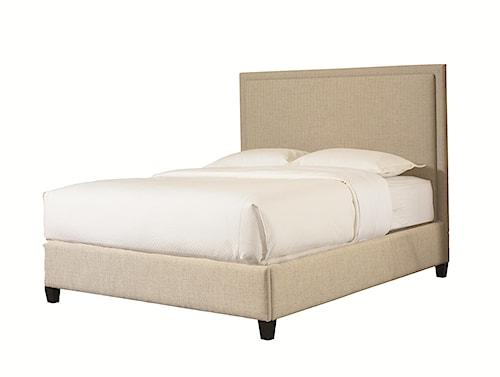 Bassett Custom Upholstered Beds California King Manhattan Upholstered Headboard and Low Footboard Bed