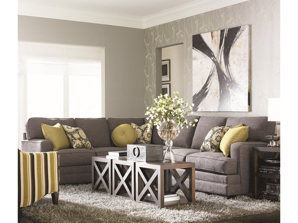 Bassett Custom Upholstery - Estate<b>Custom</b> 2 pc. Sectional