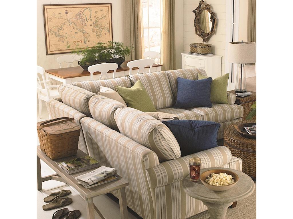 Bassett Custom Upholstery - Loft<b>Custom</b> 3 pc. Sectional