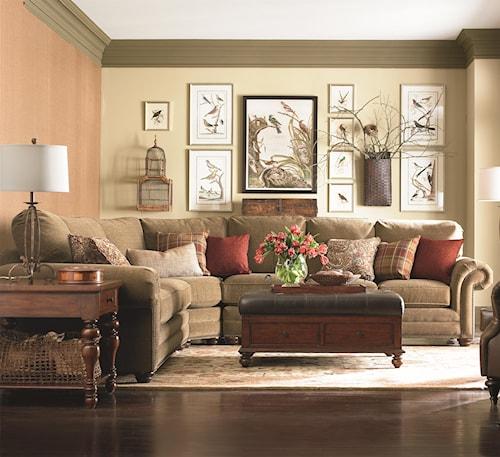 New Sectional Bassett Custom Upholstery Manor b Customizable b 3 pc Fresh - Beautiful Sectional sofa with Nailhead Trim Picture