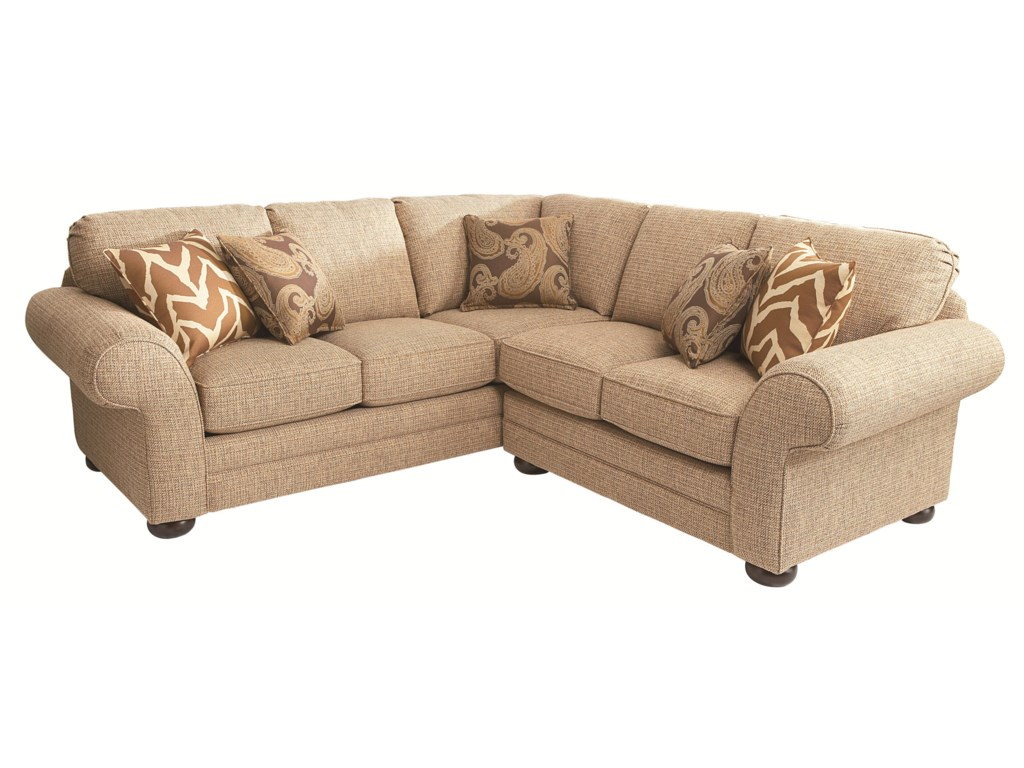 Bassett Custom Upholstery - Manor<b>Custom</b> 2 pc. Sectional