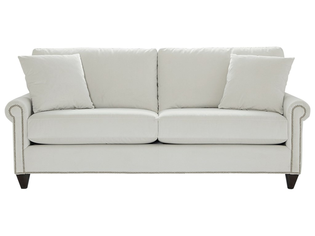 Bett Custom Upholstery Design 90 Sofa With Panel Rolled Arms And Tapered Feet