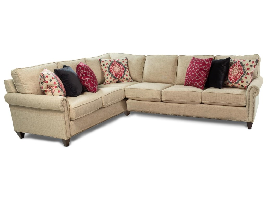 Bassett Custom UpholsteryCustomizable 2PC Sectional