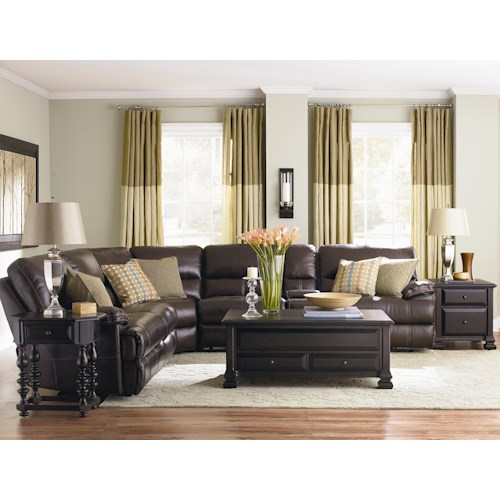 Bassett Dillon 6 Piece Motion Sectional with Padded Armrests