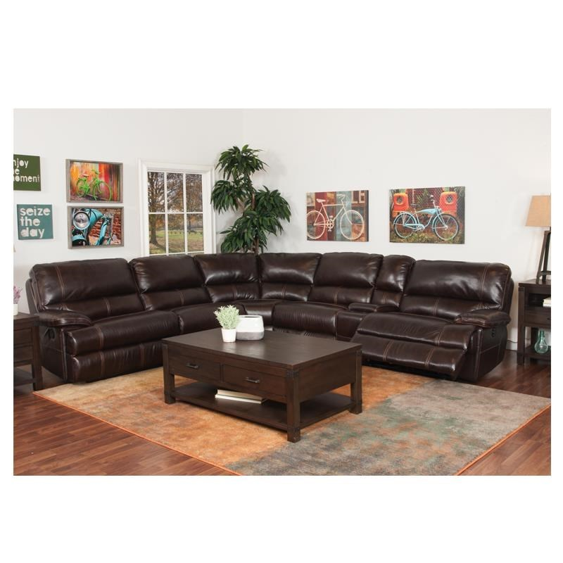 Dillon 6 Piece Motion Sectional with Padded Armrests by Bassett  sc 1 st  Darvin Furniture : bassett leather sectional - Sectionals, Sofas & Couches