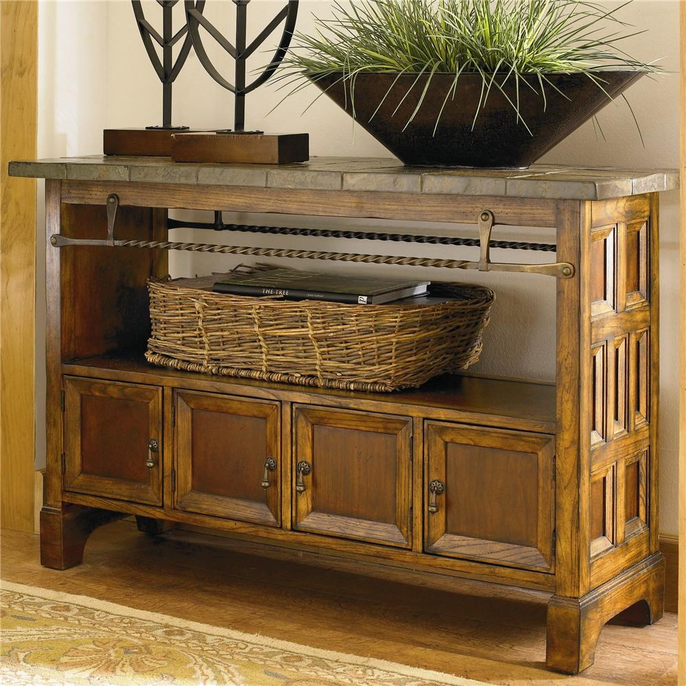 Elway Home 6550 0699 Wooden Console Table With Slate Tabletop By Bassett