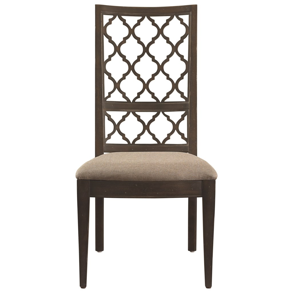 Chair Furniture Emporium bassett emporium open fret side chair - becker furniture world