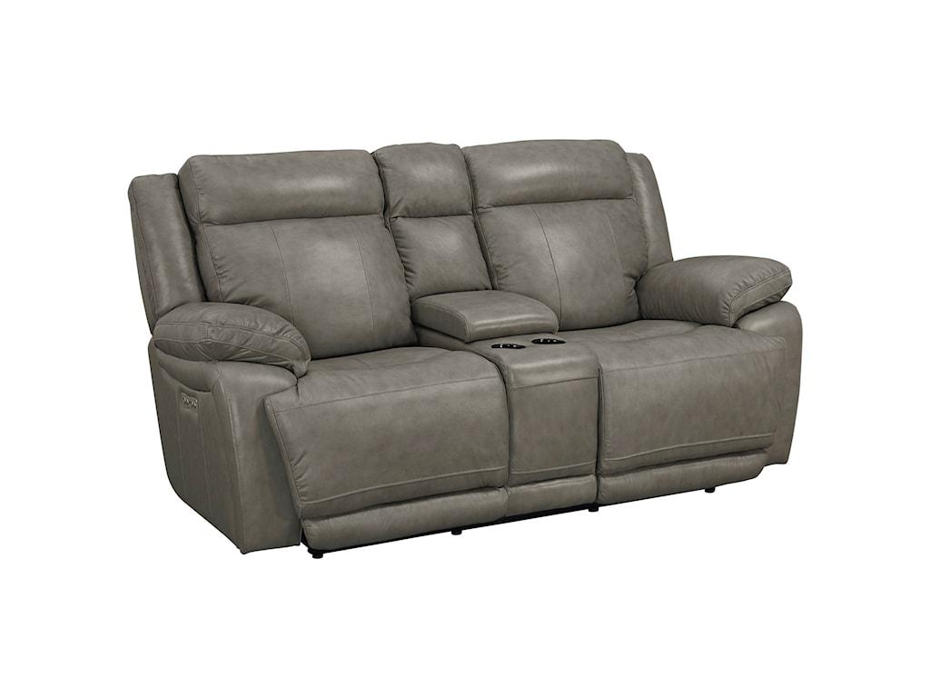 Bassett EvoPower Reclining Console Love Seat