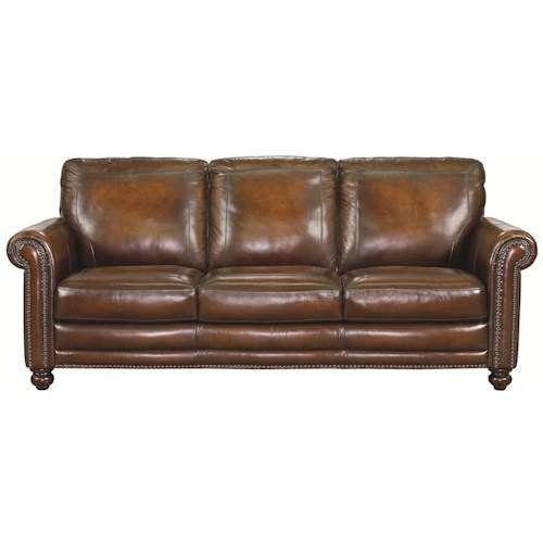 Bassett Hamilton Traditional Sofa With Nail Head Trim Dubois Furniture Sofas Waco Temple