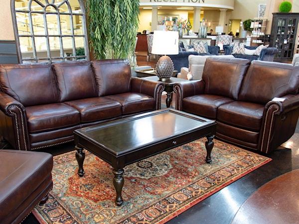 Bett Hamilton Leather Sofa And Loveseat
