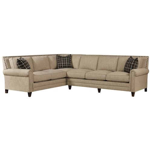 Bassett Harlan Sectional Sofa with 5 Seats