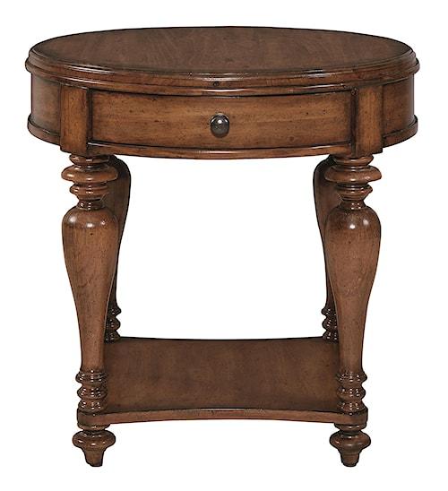 Bassett Heartland Pine Round Lamp Table