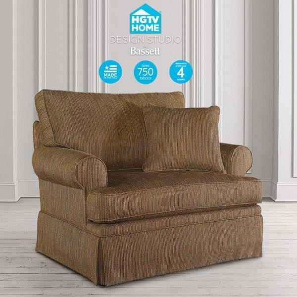 Bassett HGTV Home Design Studio 4000 18 Customizable Chair U0026 A Half