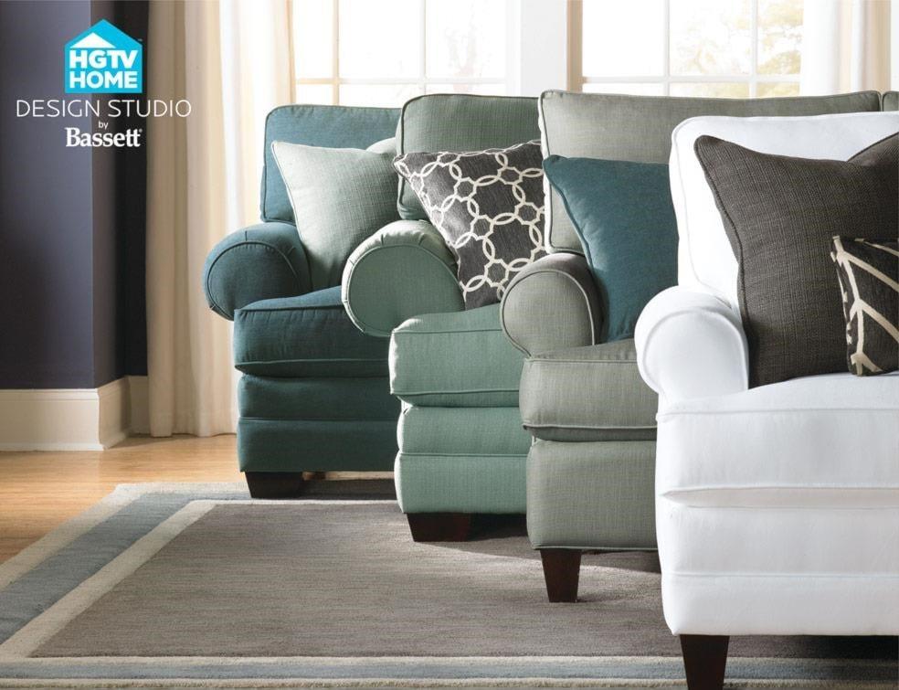 Bassett HGTV Home Design Studio 4000-52 Customizable Studio Sofa ...
