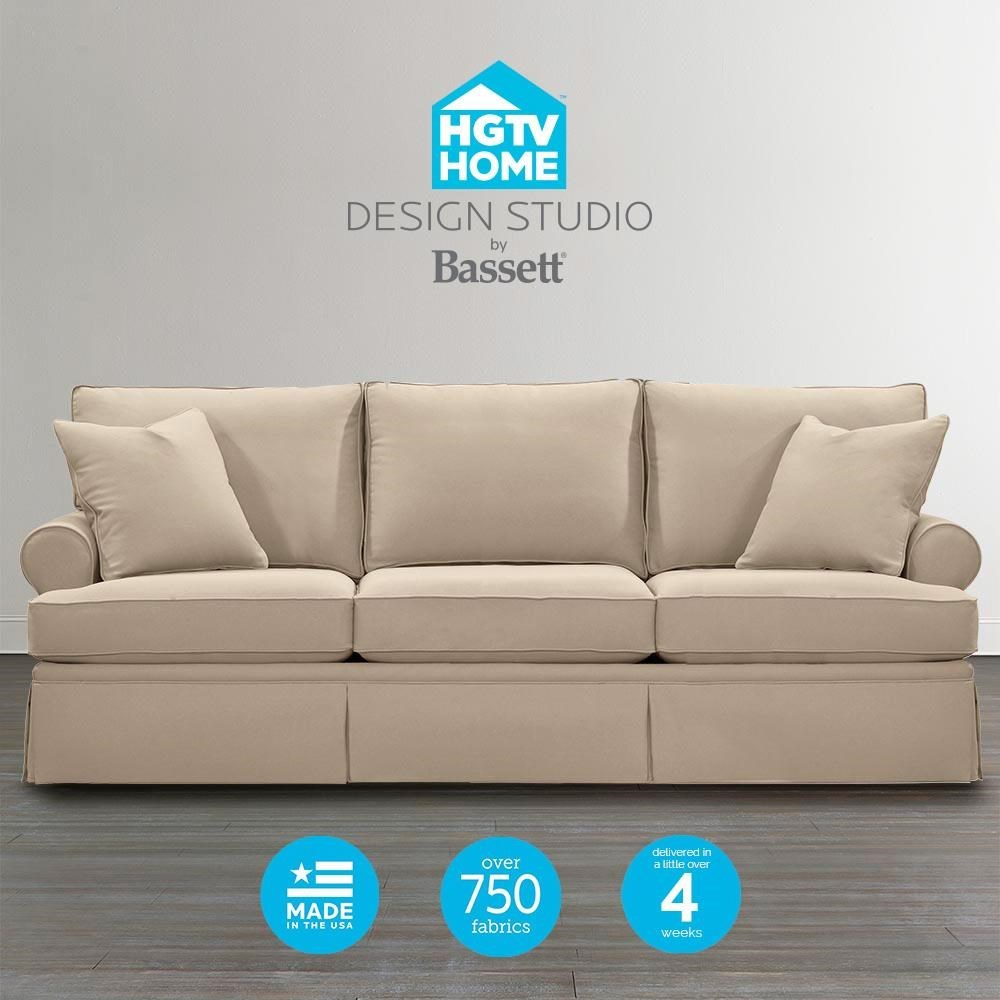 Bassett HGTV Home Design Studio 4000 82 Customizable Great Room Sofa