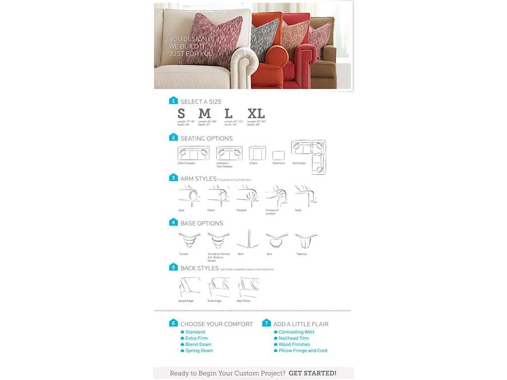 Bassett HGTV Home Design StudioCustomizable C-Shaped Double Chaise Sectiona