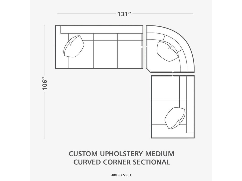 Bassett HGTV Home Design StudioCustomizable Curved Corner Sectional