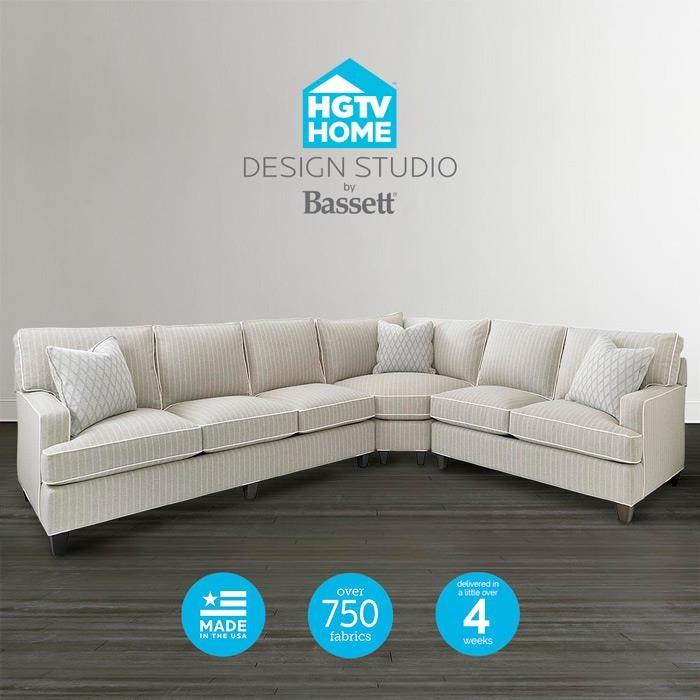 Bassett HGTV Home Design StudioCustomizable Curved Corner Sectional ...