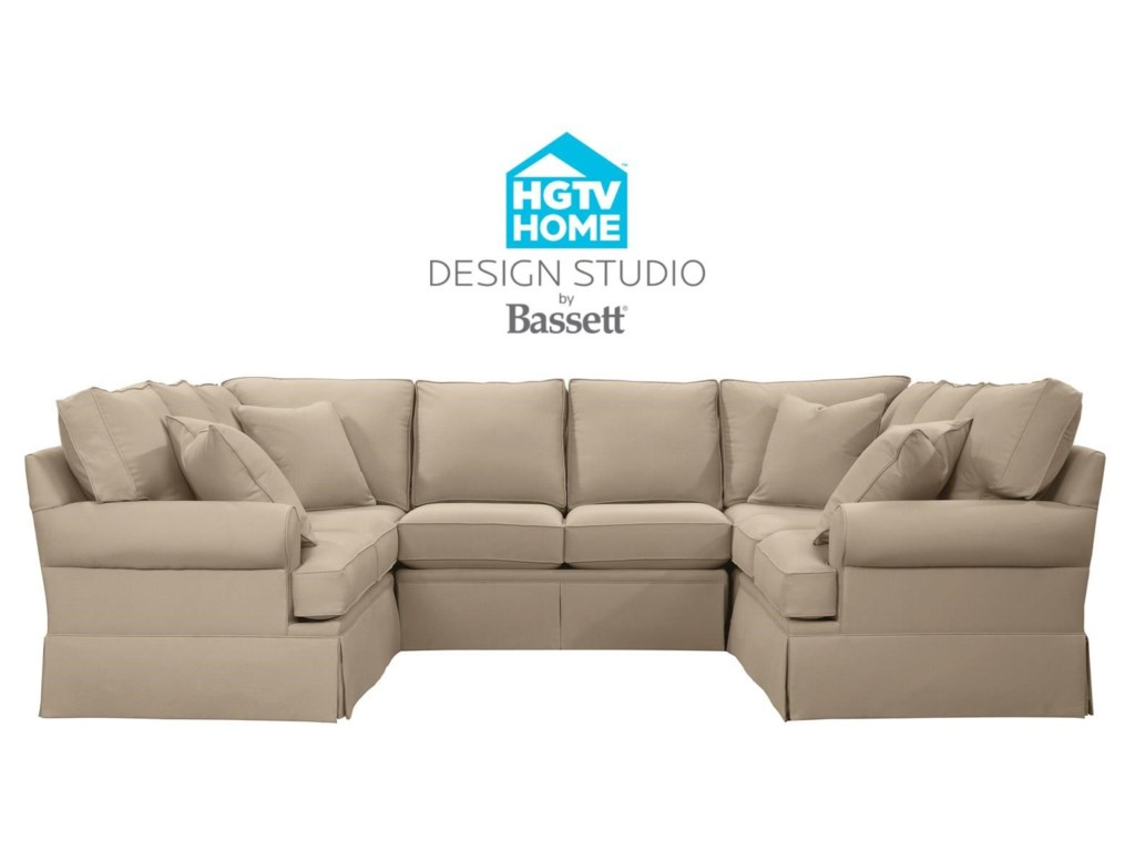 Bassett HGTV Home Design Studio 4000-USECTS Customizable U-Shaped ...