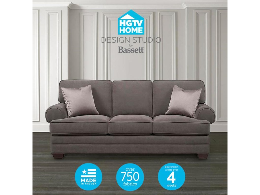 Bassett HGTV Home Design Studio 6000 Customizable XL Sofa | Great ...