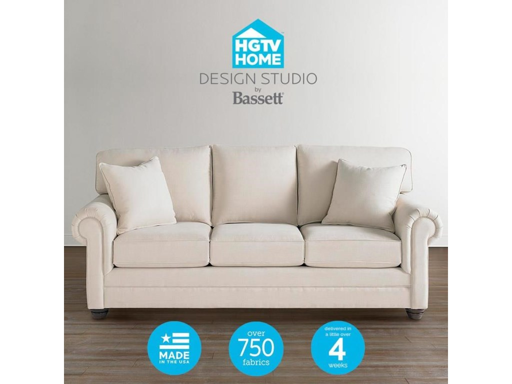 Bassett HGTV Home Design StudioCustomizable Queen Sofa Sleeper