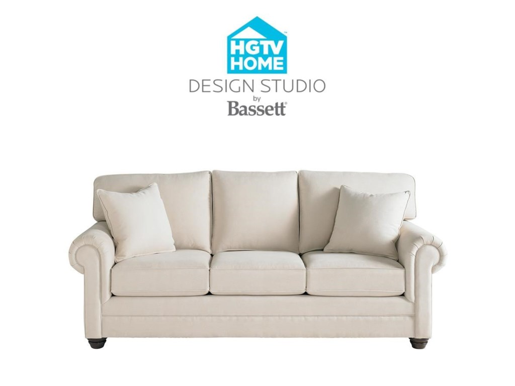 Bassett HGTV Home Design Studio 7000-7 Customizable Queen Sofa ...