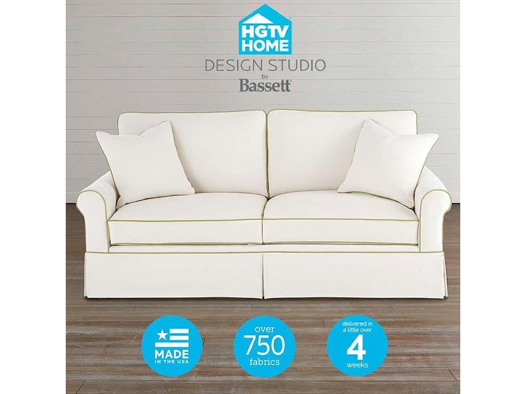 Bassett HGTV Home Design Studio Customizable Small Sofa - Great ...