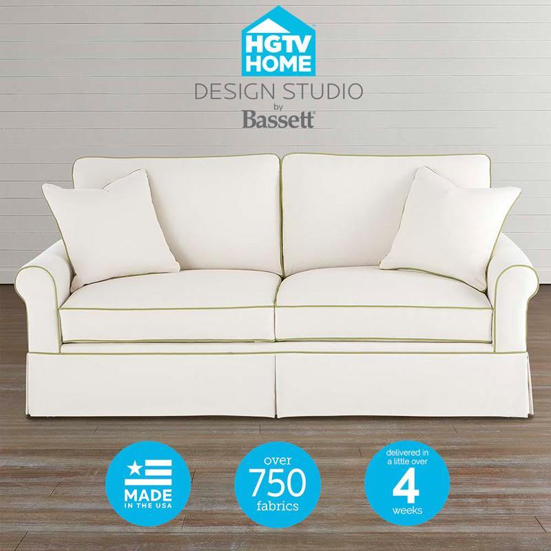 Bassett HGTV Home Design Studio 8000 Customizable Small Sofa