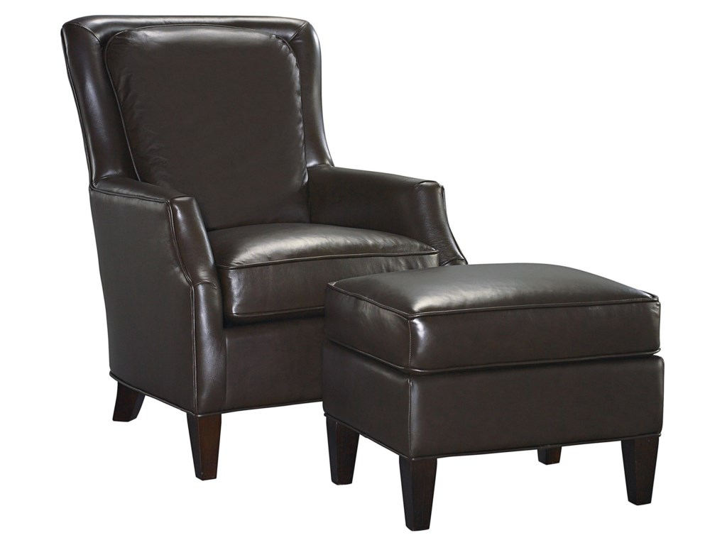 Bassett Kent Chair and Ottoman