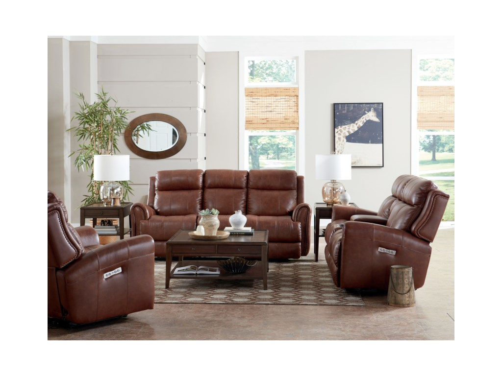 Bassett MarqueePwr Recl. Loveseat w/ Extended Footrest