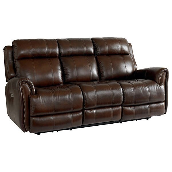 Bassett Marquee   Club LevelPower Reclining Sofa W/ Extended Footrest ...