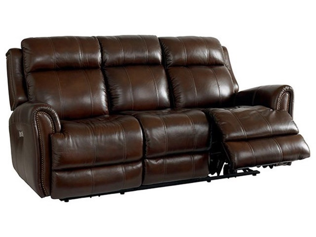 Bassett MarqueePower Reclining Sofa w/ Extended Footrest