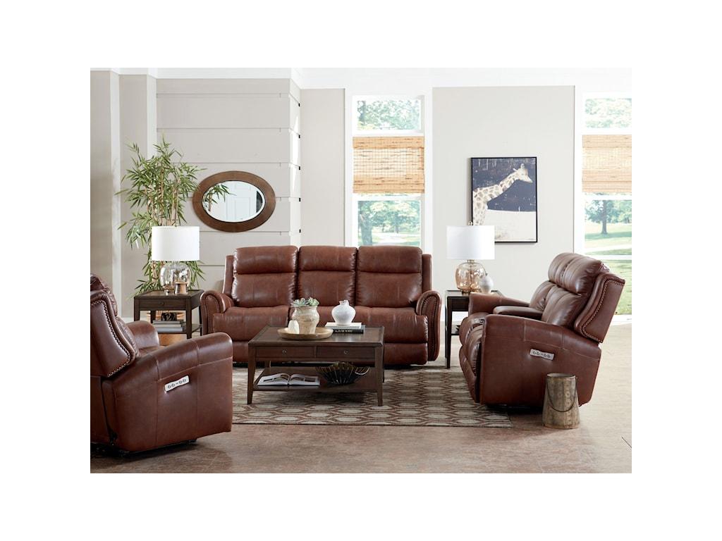 Bassett MarqueeLeather Power Reclining Sofa