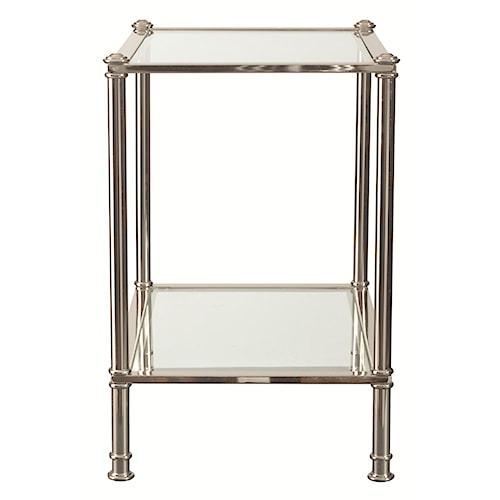 Bassett Metropolitan Chairside Table with Glass Shelf