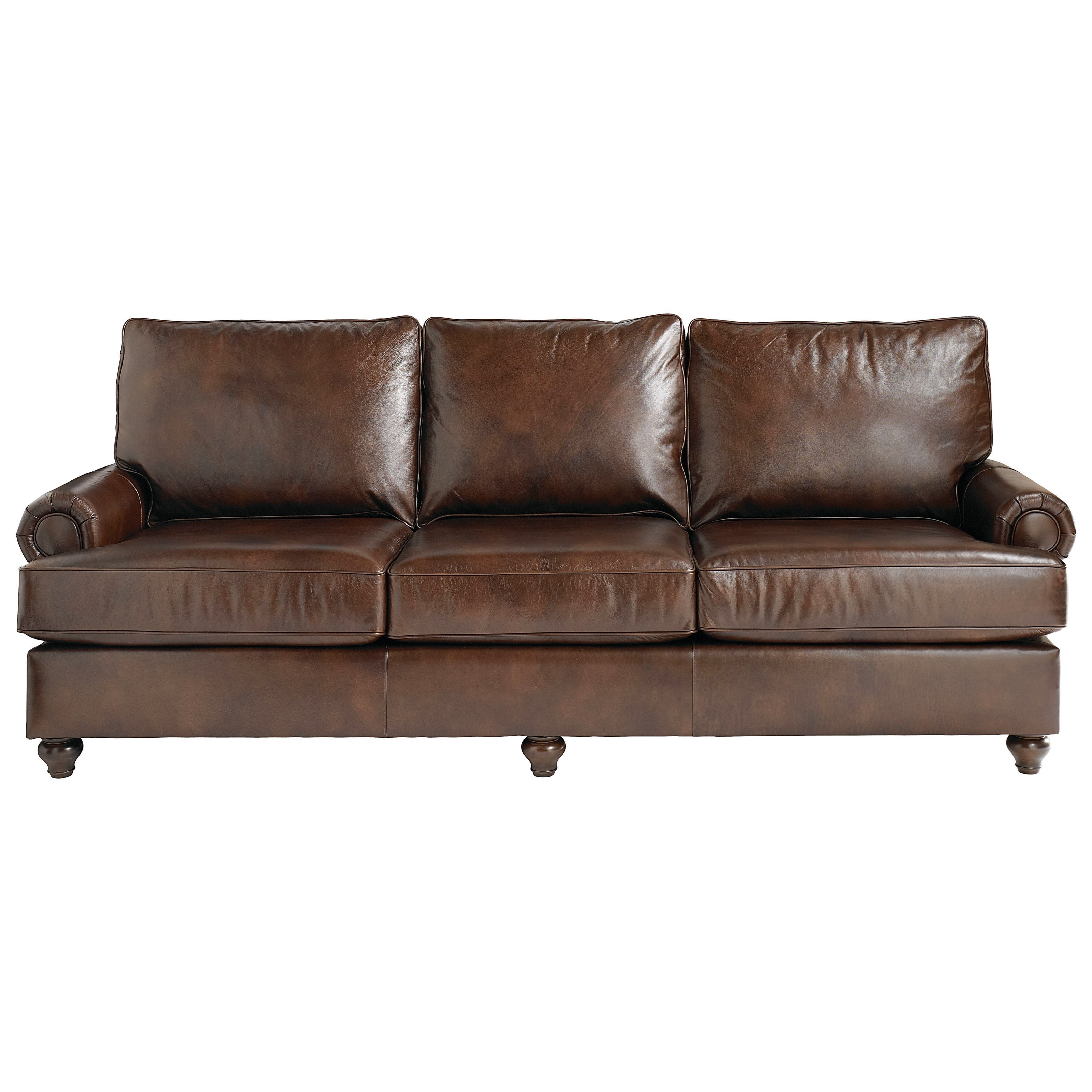 Charming Bassett Montague 3103 82L Casual Sofa With Rolled Arms   Hudsonu0027s Furniture    Sofas
