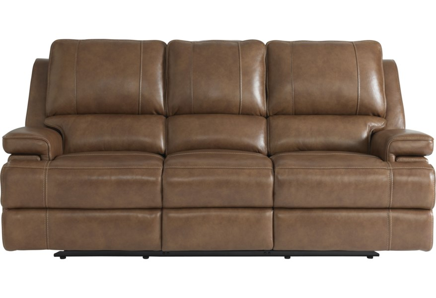 Bassett Parsons Club Level Double Reclining Sofa With Power Headrests Darvin Furniture Sofas