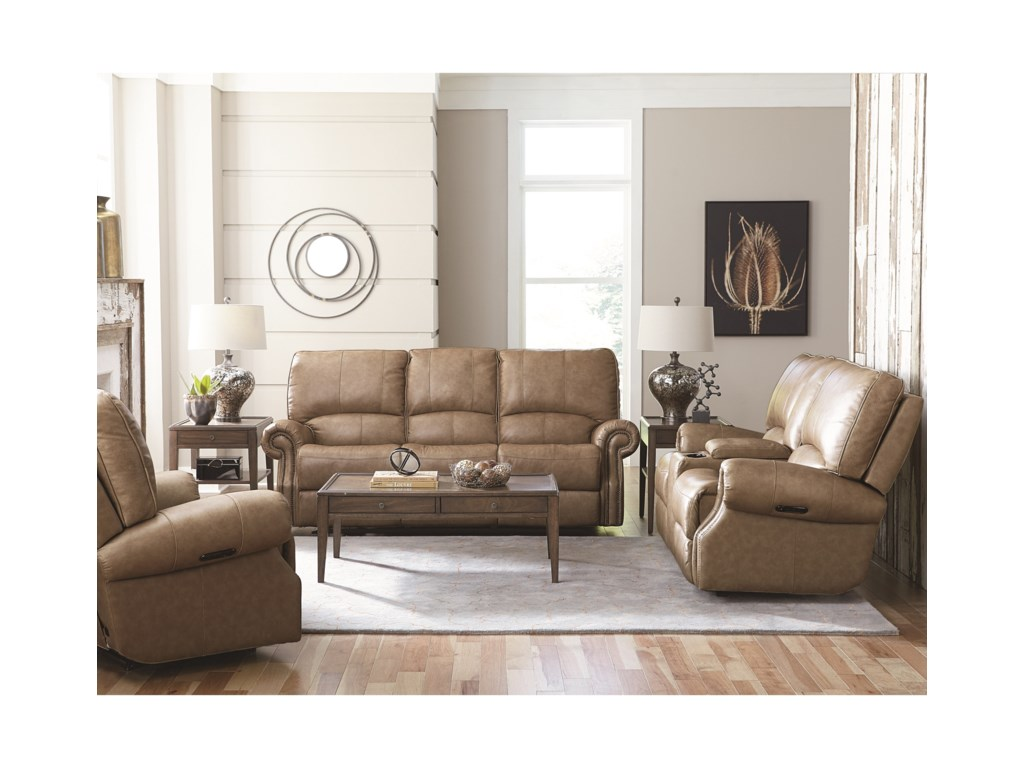 Bassett PrescottPower Motion Loveseat