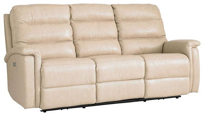 Bassett Regency Club LevelPower Reclining Sofa With Power Headrest ...