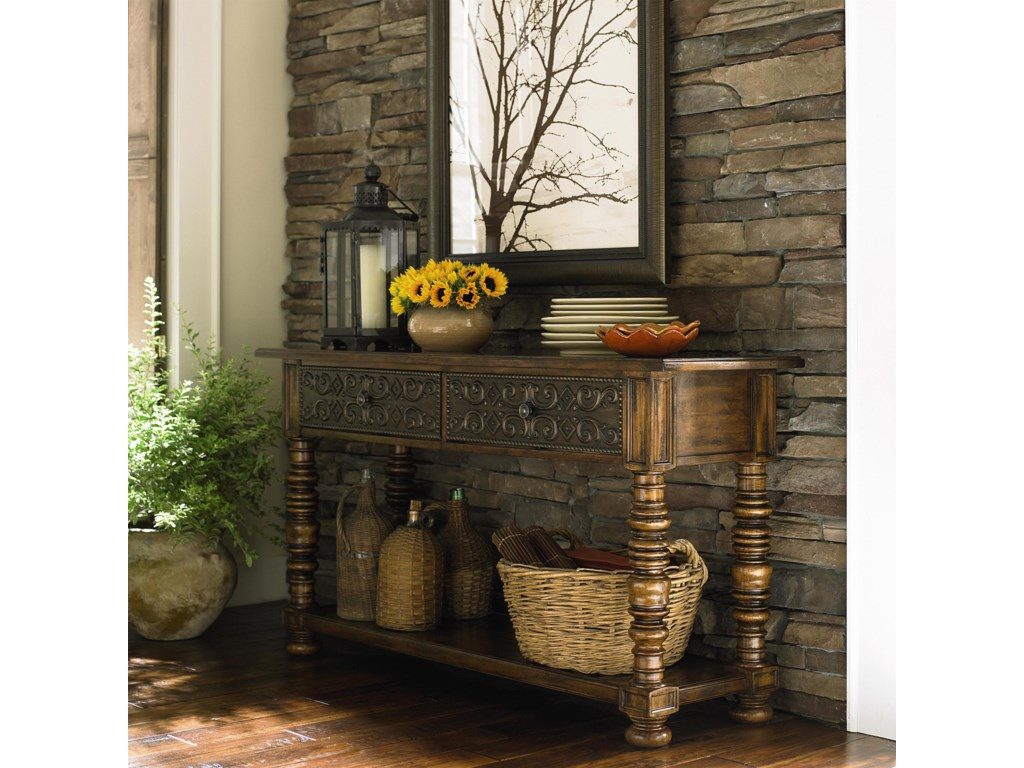 Bassett sonoma two drawer console table dunk bright furniture sonoma two drawer console table by bassett geotapseo Choice Image