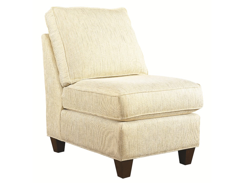 Bassett Custom Upholstery - Medium Scale<b>Custom</b> Armless Chair