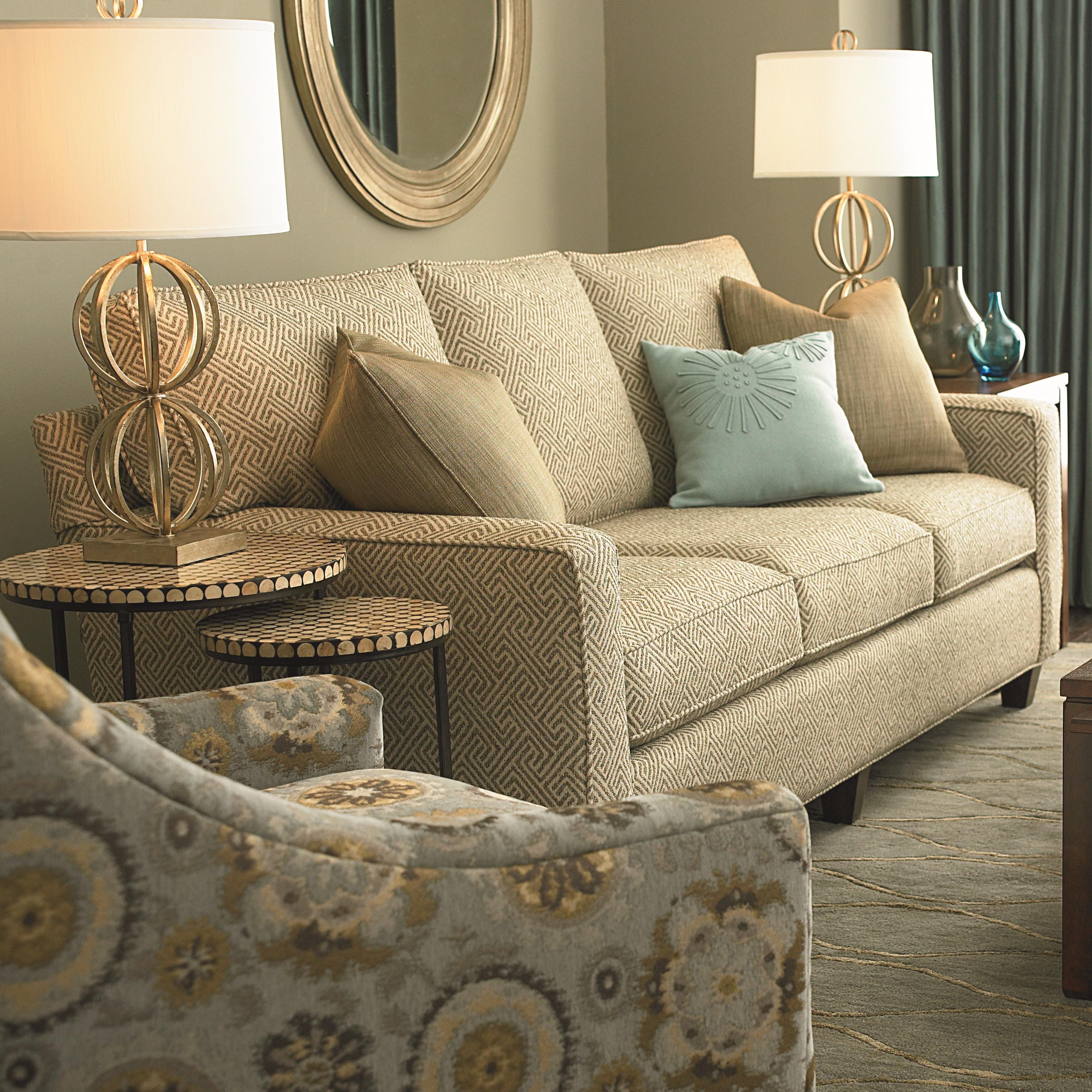 Bassett Custom Upholstery   Medium Scale U003cbu003eCustomizableu003c/bu003e Queen Sleeper