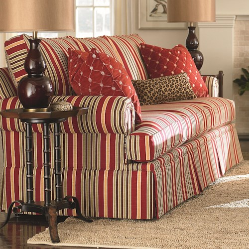 Bassett Custom Upholstery - Townhouse <b>Customizable</b> Queen Sleeper with Panel Arms and Skirt