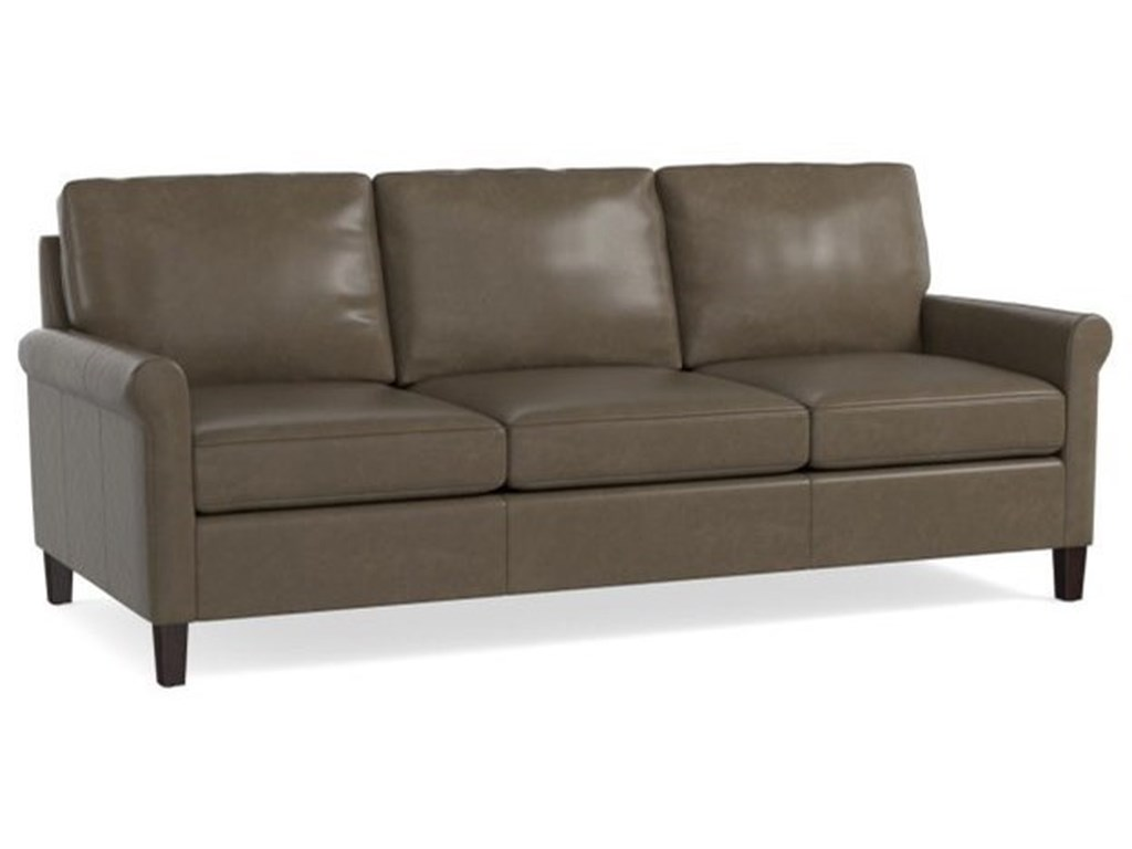 Transitional Sofa With Sock Rolled Arms