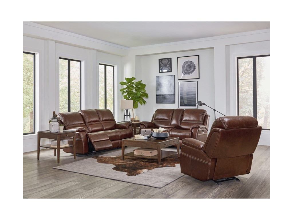 Bassett Williams - Club Level by BassettReclining Console Loveseat